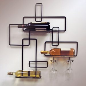 J and J Wire contemporary wall mount wine rack