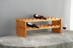 Mosa Natural bamboo wine rack holder