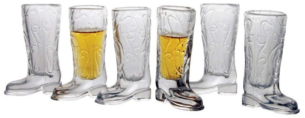 Circleware-Kickback-Glass-Shot-Glasses-Funny-Shaped-Cowboy-Boots
