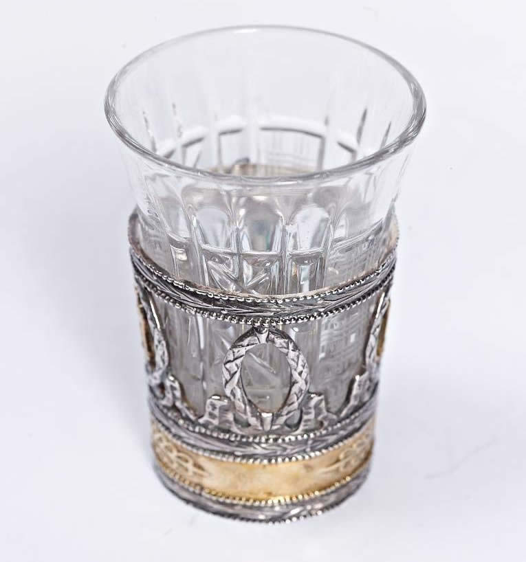 silver shot glass gryphon