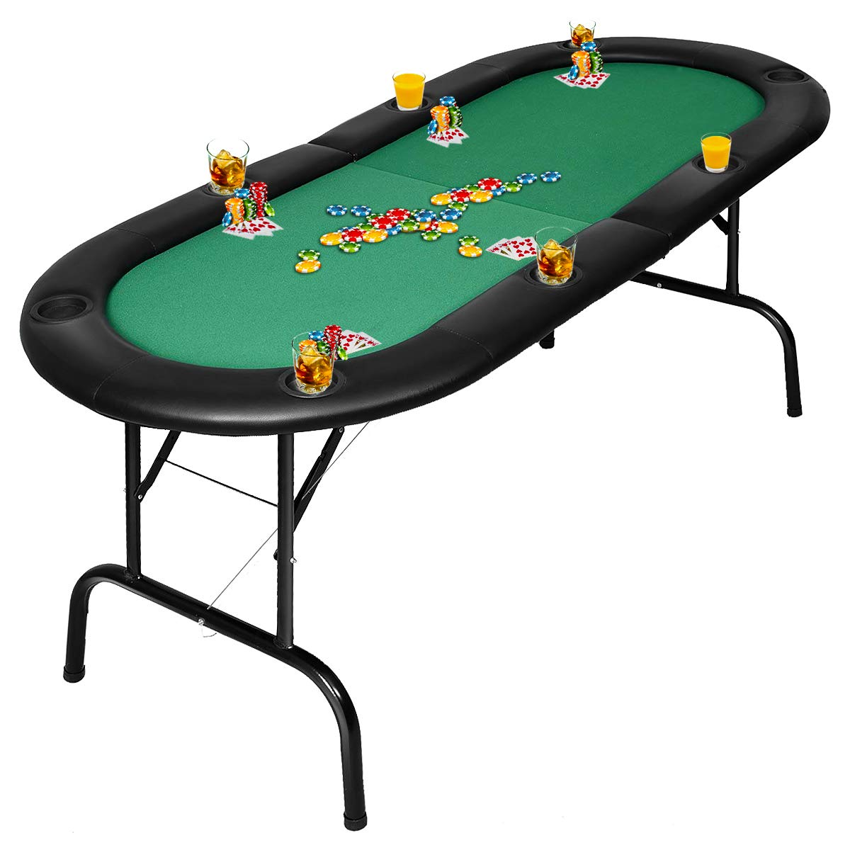 Giantex Foldex 8 Player Casino Texas table