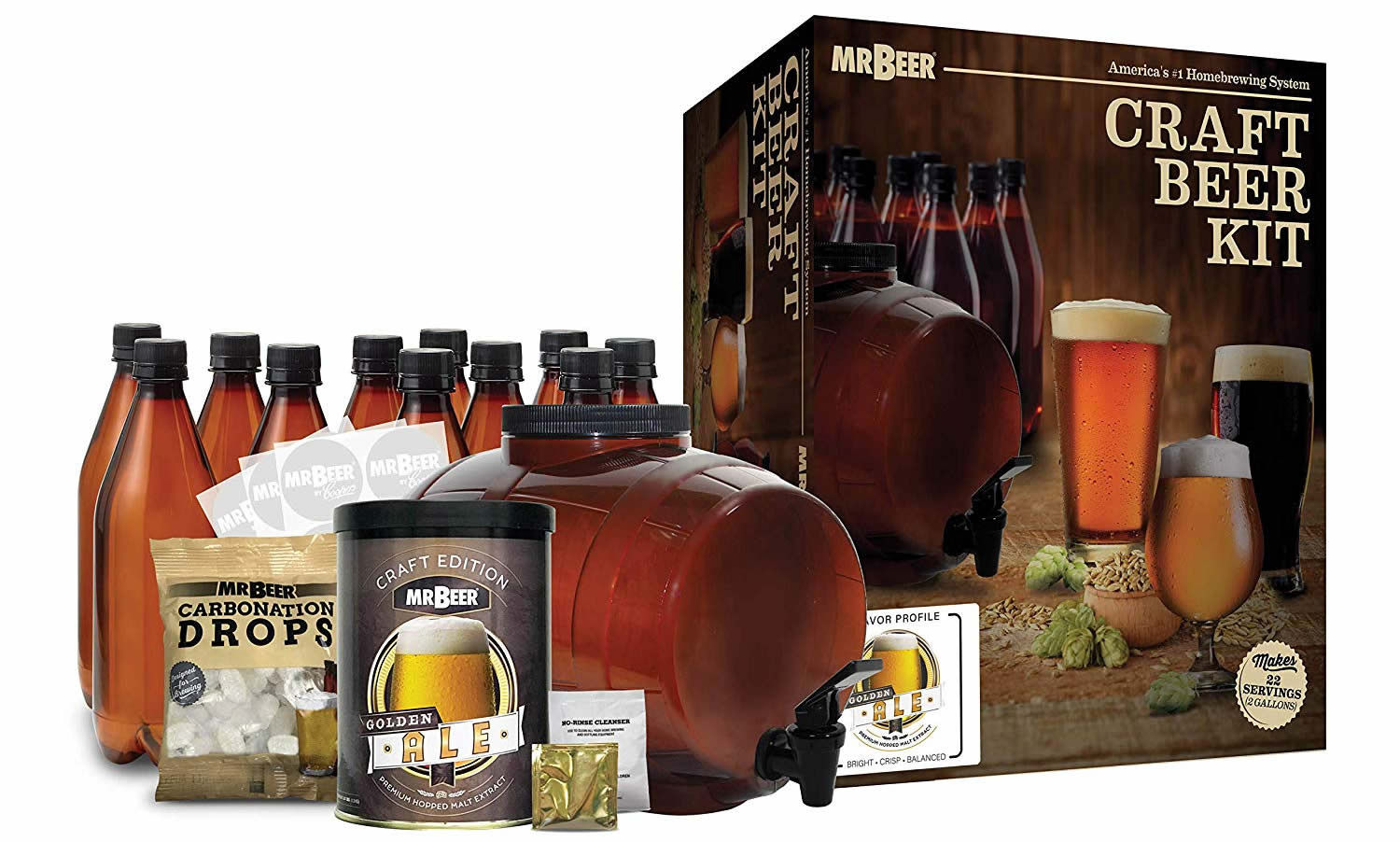 mr beer premium gold beer brewing kit