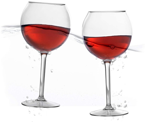 Best Pool Wine Glasses Bubble Wally pool glass