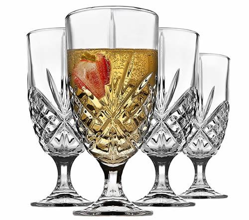 Godinger iced beverage french wine glasses