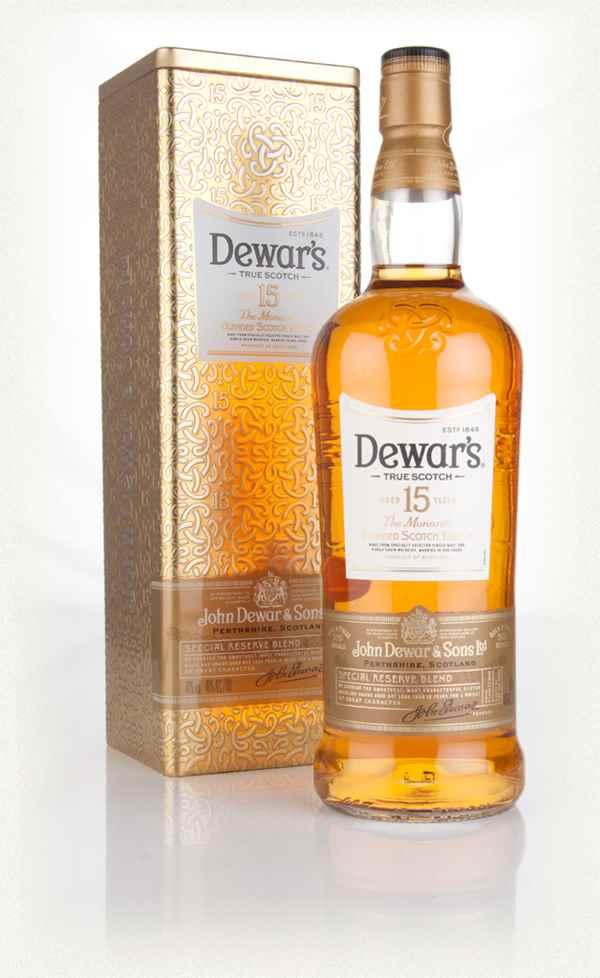 Dewars 15 year old Monarch whisky